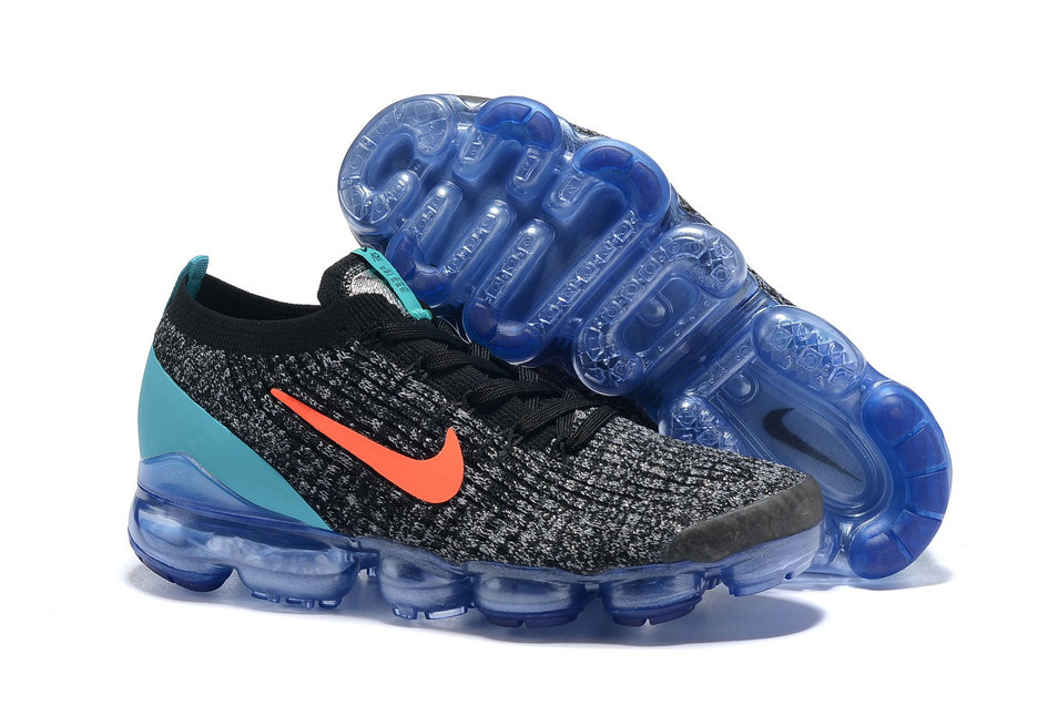 Cheap Nike Air VaporMax Flyknit 3.0 Orange Jade Black Grey