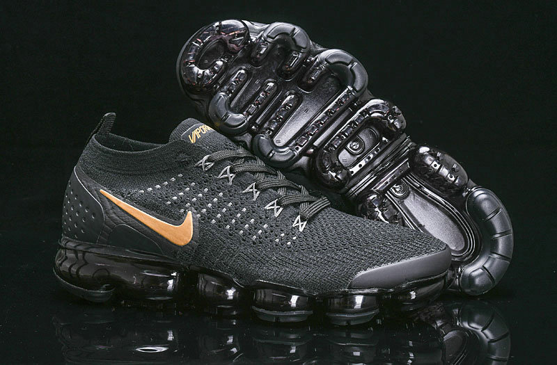 Cheap Nike Air Vapormax Flyknit 2018 V2 Black Gold 942842-203