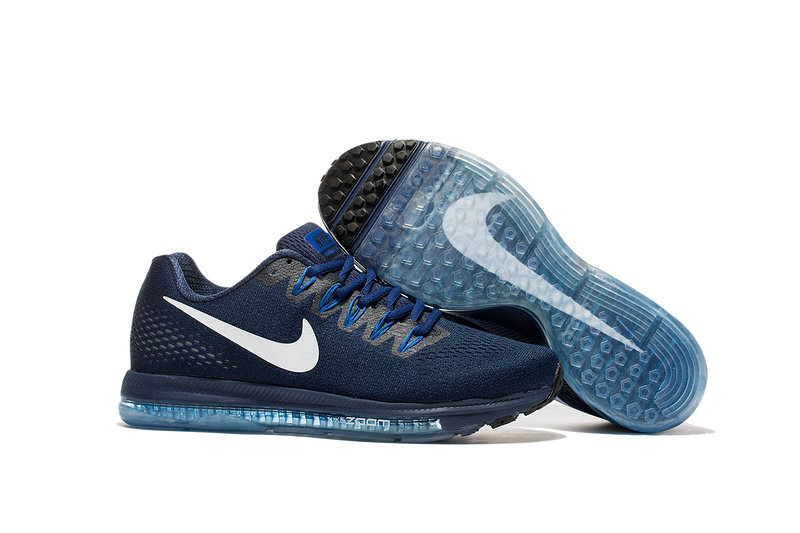 Cheap Nike Air Zoom All Out Flyknit Mens Blue Grey White