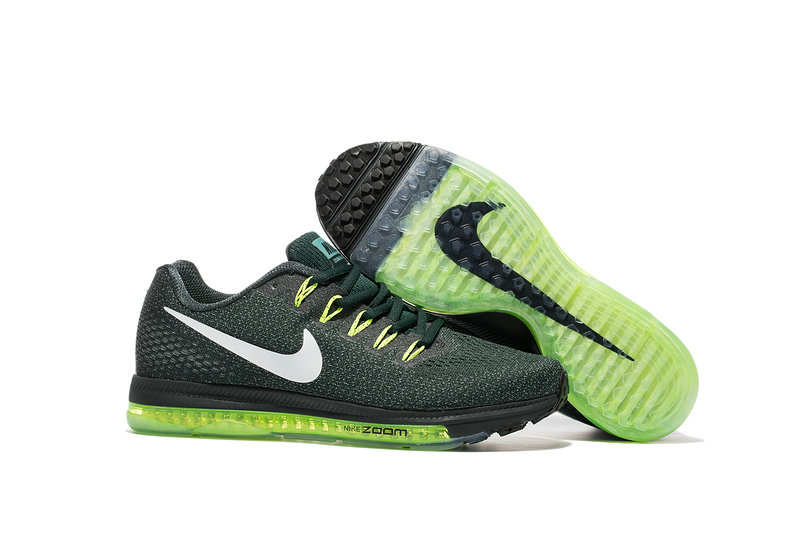 Cheap Nike Air Zoom All Out Flyknit Mens Grass Green White Black