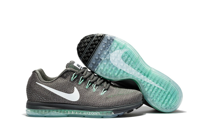 Cheap Nike Air Zoom All Out Flyknit Mens Grey White Grass Green