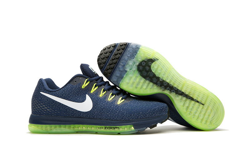 Cheap Nike Air Zoom All Out Flyknit Mens Yellow Green Navy Blue White
