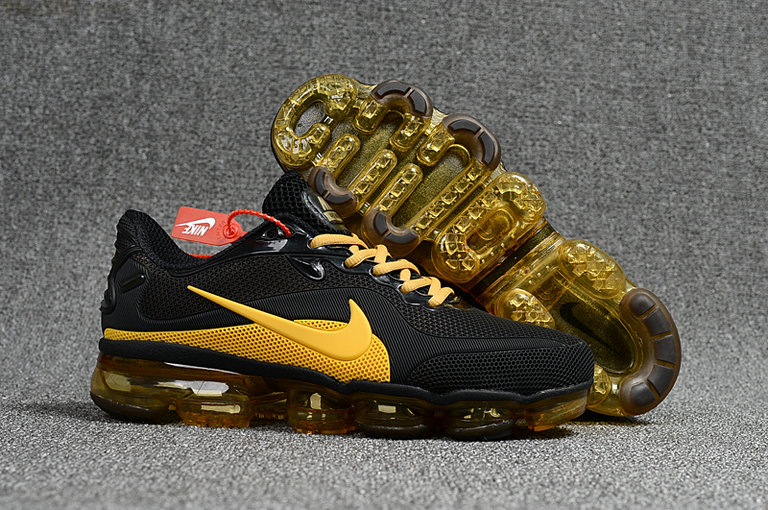 Cheap Nike AirMax 2018 Mens Sneakers MD Gold Yellow Black