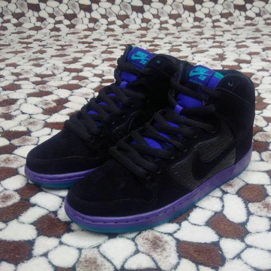 Cheap Nike Dunk High Premium SB Black Royal Blue Purple