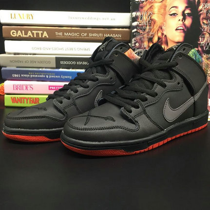 Cheap Nike Dunk High Premium SB Black University Red
