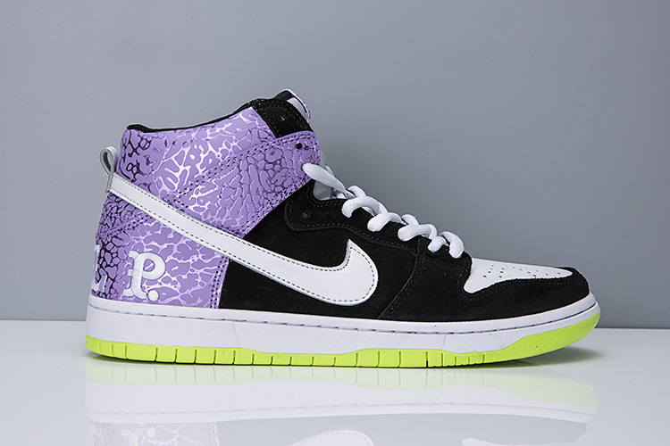 Cheap Nike Dunk High SB Send Help Purple Green White Black For Mens