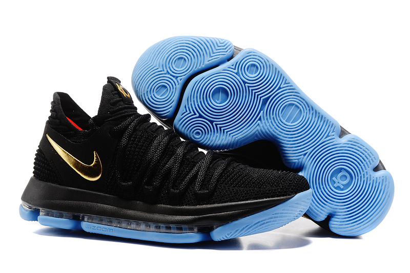 Cheap Nike KD 10 Black Gold Blue For Sale
