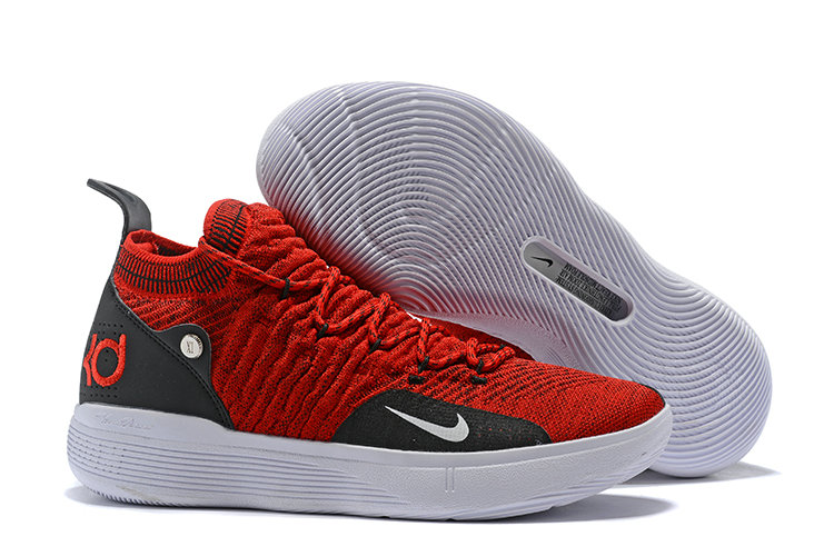 Cheap Nike KD 11 Basketball Shoes Fire Red Black White