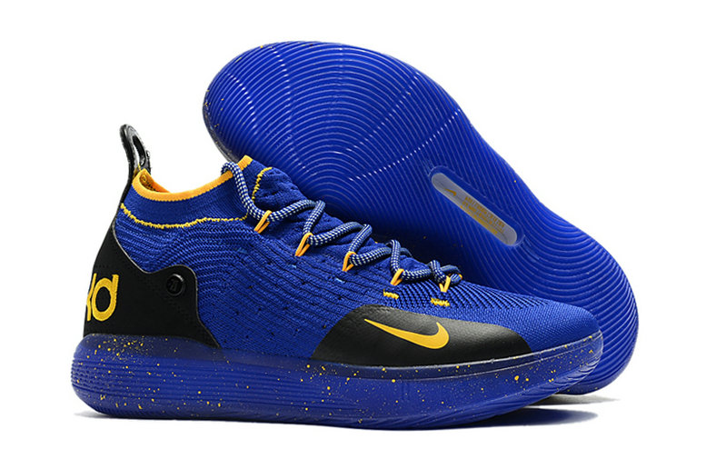 Cheap Nike KD 11 For Kids Black Blue Royal Blue