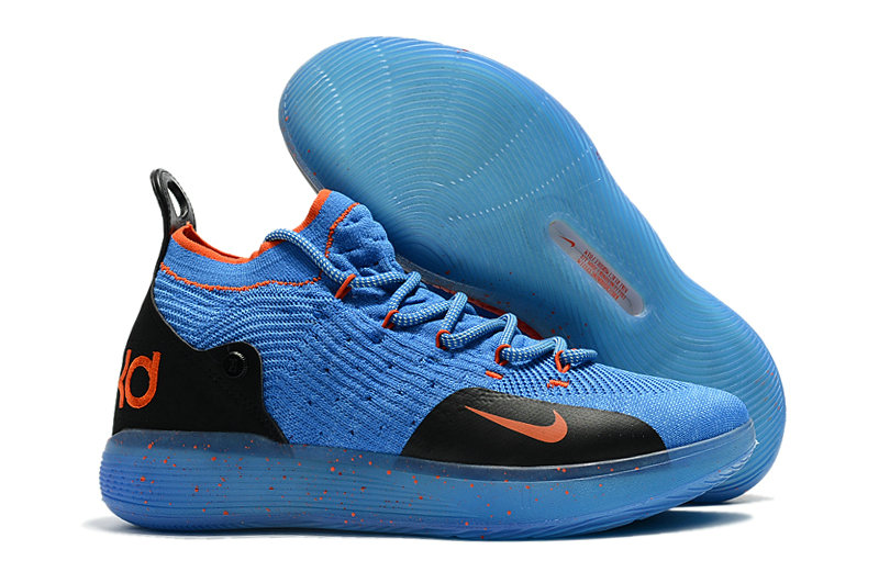 Cheap Nike KD 11 For Kids Blue Orange Black