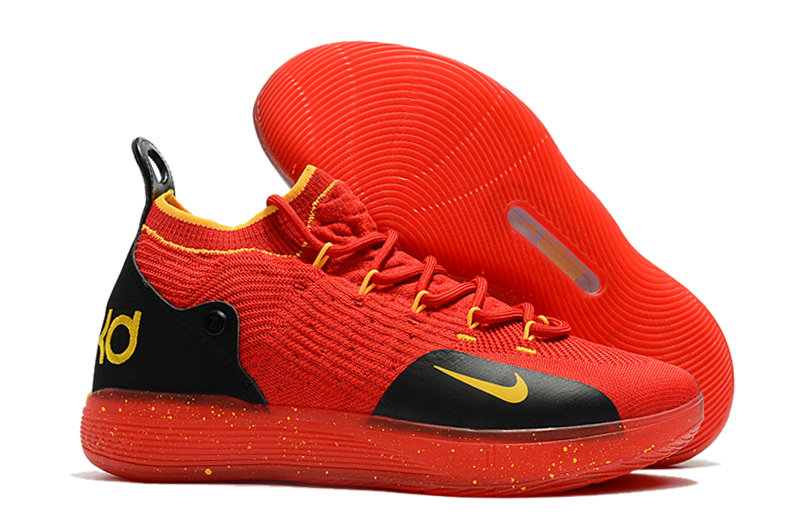 Cheap Nike KD 11 For Kids Red Yellow Black