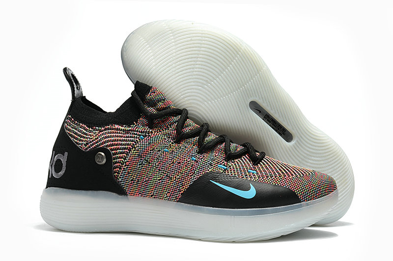 Cheap Nike KD 11 For Womens Colorful Black White