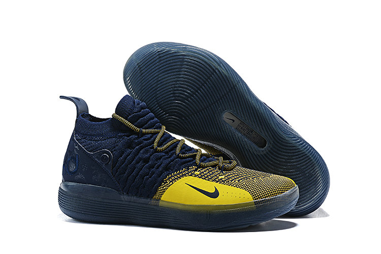 Cheap Nike KD 11 Michigan College Navy University Gold AO2604-400