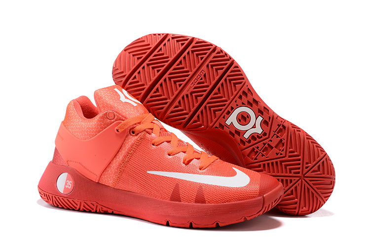 Cheap Nike KD Trey 5 IV Bright Crimson University Red Metallic Silver White For Sale