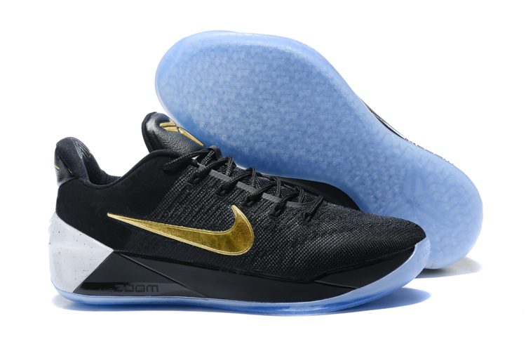 Cheap Nike Kobe A.D. Black Metallic Gold-White For Sale