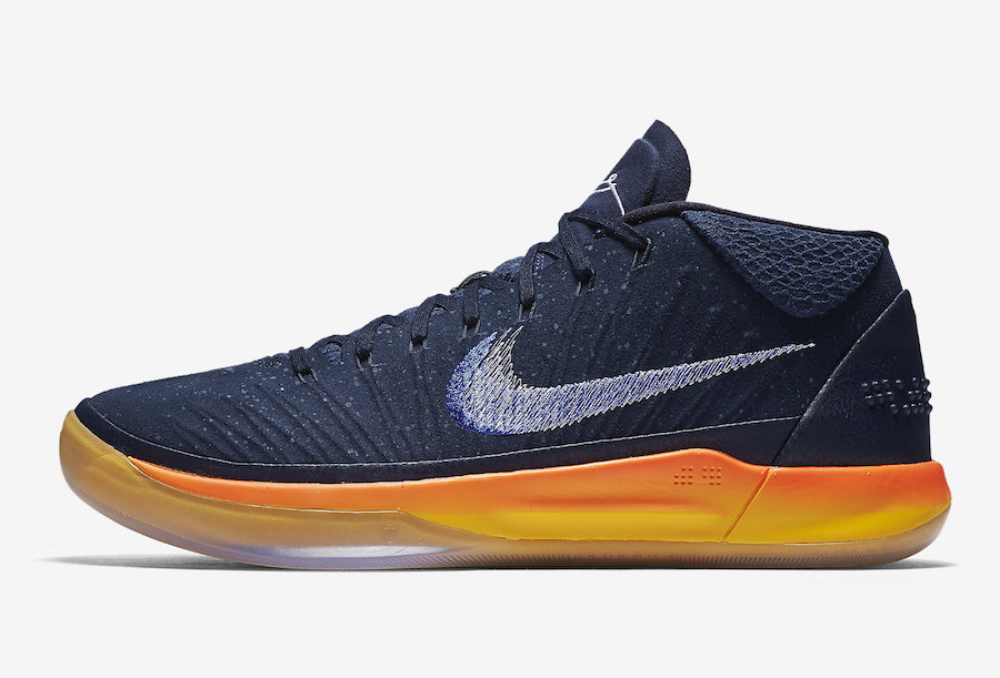 Cheap Nike Kobe A.D. Mid Rise Obsidian White-Mega Blue For Sale
