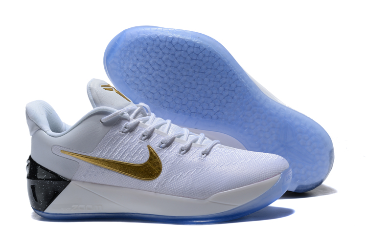 Cheap Nike Kobe A.D. White Metallic Gold-Black For Sale