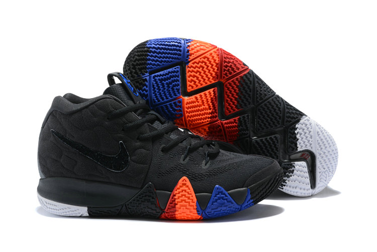 Cheap Nike Kyrie 4 Irving Basketball Shoes Black Orange Blue