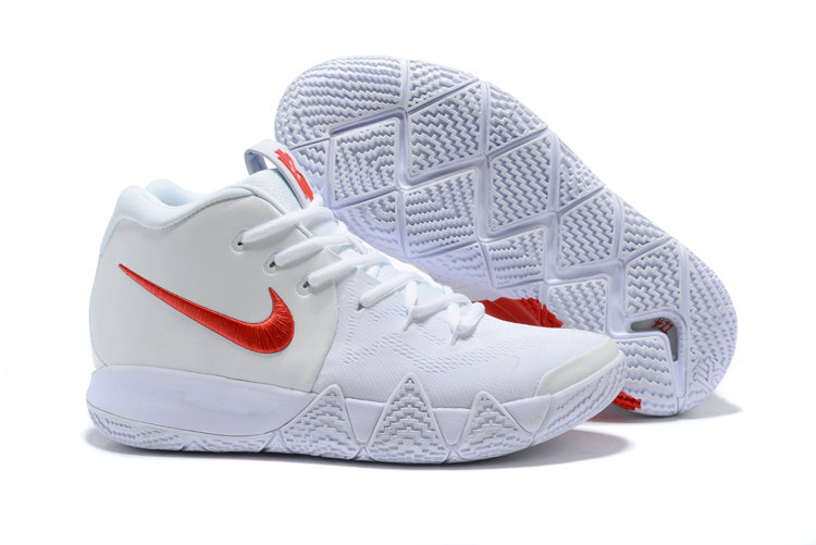 Cheap Nike Kyrie 4 Irving Basketball Shoes Fire Red White