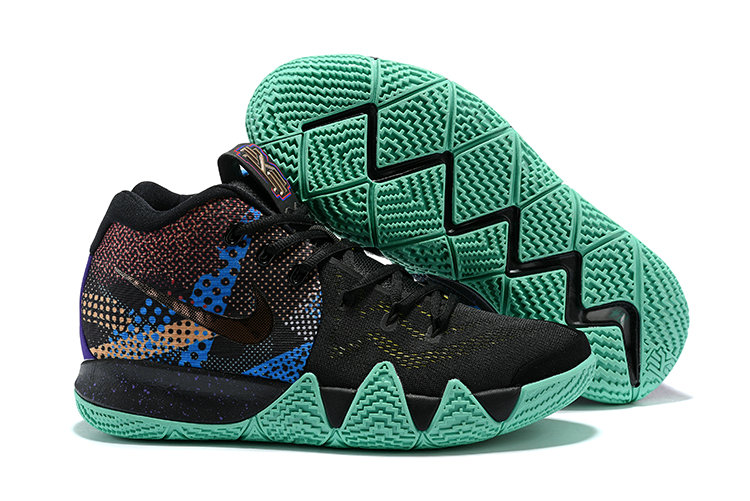 Cheap Nike Kyrie 4 Irving Basketball Shoes Gold Black Grass Green