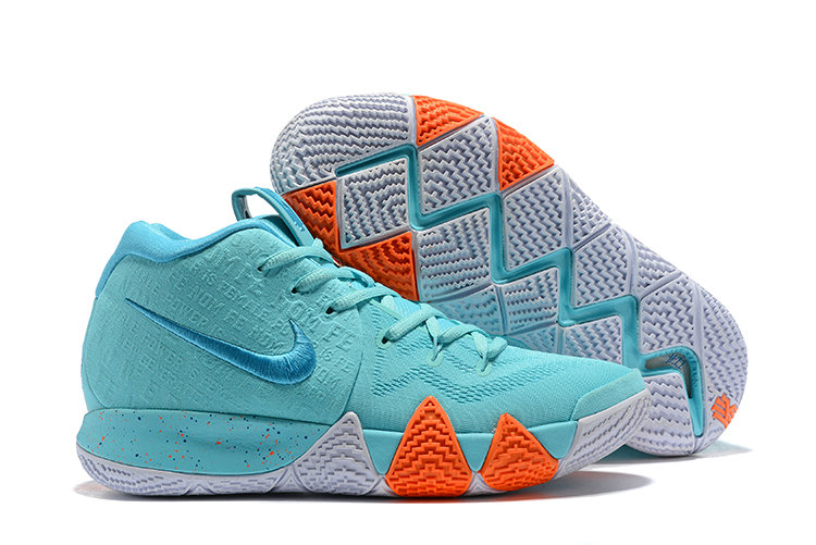 Cheap Nike Kyrie 4 Irving Basketball Shoes Orange White Apple Green