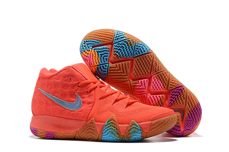 Cheap Nike Kyrie 4 Irving Basketball Shoes Red Blue Purple