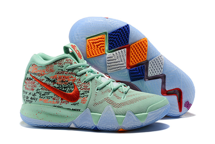 Cheap Nike Kyrie 4 Irving Basketball Shoes Red Jade Bright