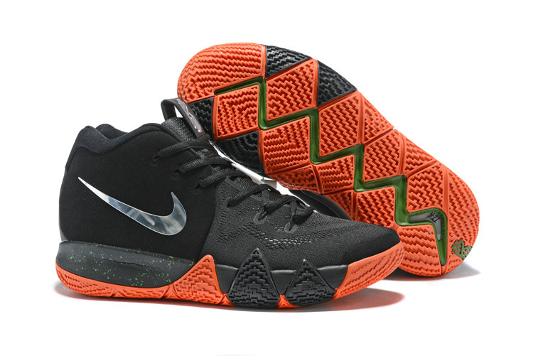 Cheap Nike Kyrie 4 Irving Basketball Shoes Silver Grey Black Orange