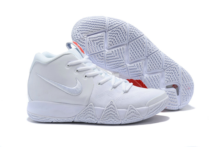 Cheap Nike Kyrie 4 Irving Basketball Shoes Triple White