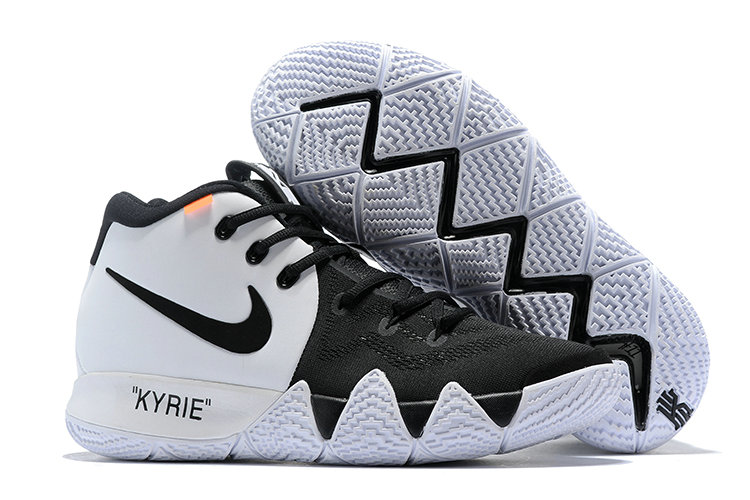 Cheap Nike Kyrie 4 Irving Basketball Shoes White Black