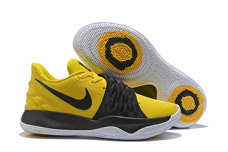 Cheap Nike Kyrie Flytrap Irvings Basketball Shoes Black White Yellow