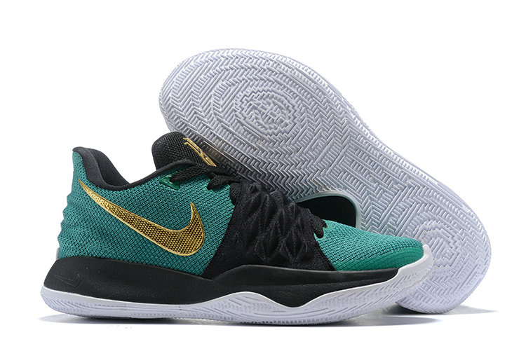 Cheap Nike Kyrie Flytrap Irvings Basketball Shoes Gold Green Black White