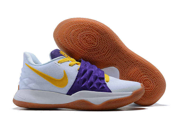 Cheap Nike Kyrie Flytrap Irvings Basketball Shoes Yellow Purple White