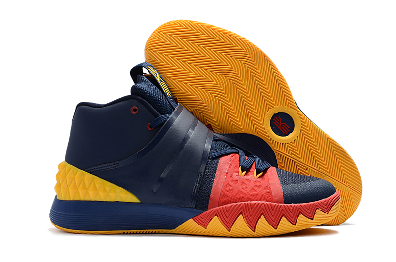 Cheap Nike Kyrie S1 Hybrid Navy Blue Yellow-Red For Sale