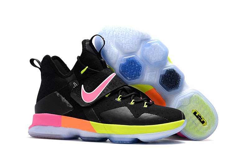 Cheap Nike LeBron 14 Black Rainbow For Sale