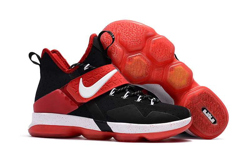Cheap Nike LeBron 14 Black Red-White For Sale