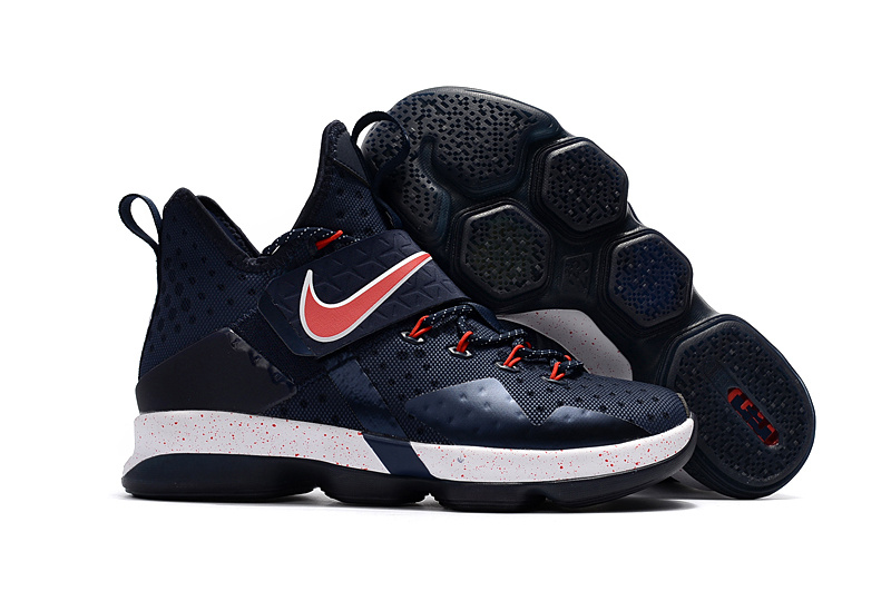 Cheap Nike LeBron 14 Navy Red-White For Sale