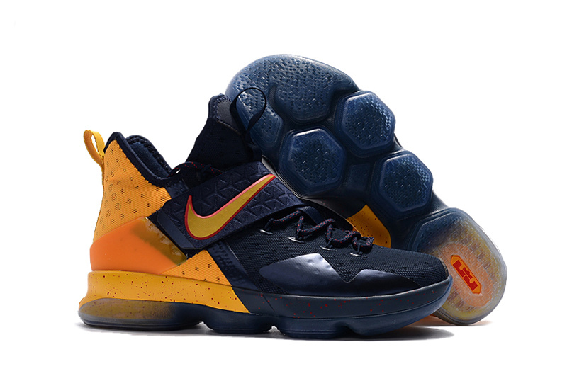 Cheap Nike LeBron 14 Navy Yellow-Red For Sale
