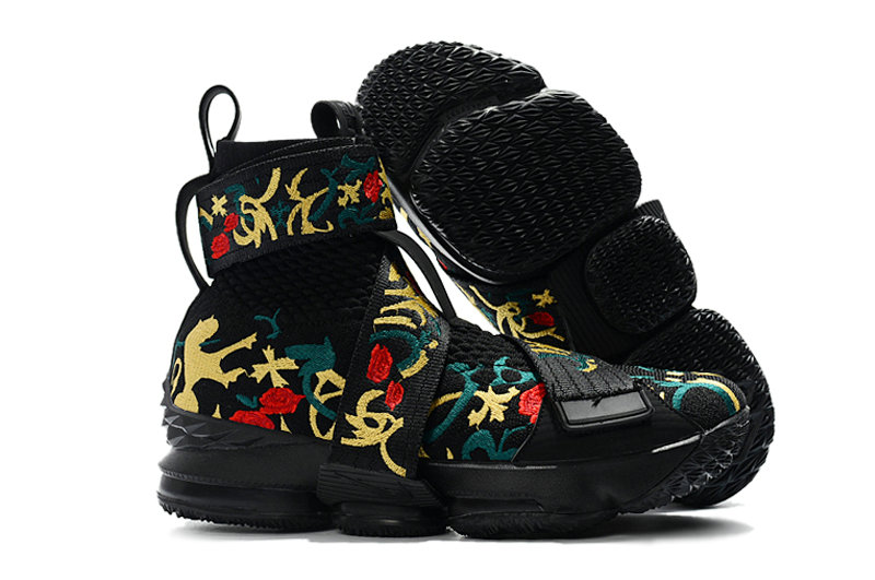 free shipping f27d6 09242 Cheap Nike LeBron 15 Lifestyles Black Flowers - Cheap Nike ...