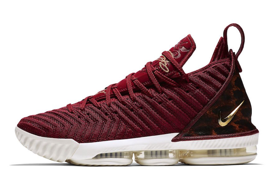 Cheap Nike LeBron 16 King AO2588-601 Team Red Metallic Gold-Multi Color