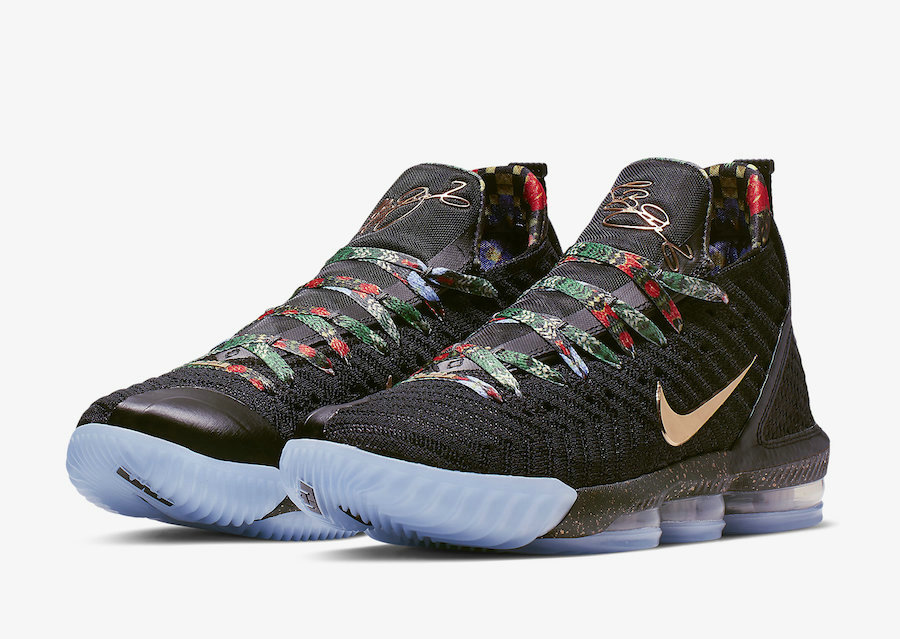 Cheap Nike LeBron 16 Watch The Throne Black Metallic Gold-Rose Frost CI1518-001