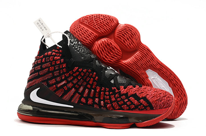Cheap Nike LeBron 17 University Red Black-White