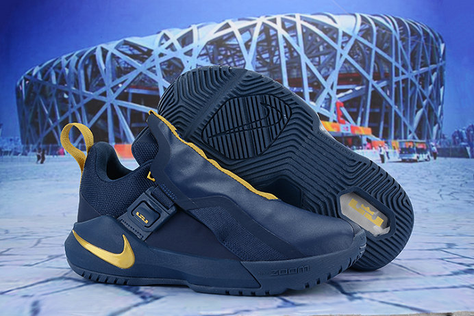 Cheap Nike LeBron Ambassador 11 Navy Blue Gold