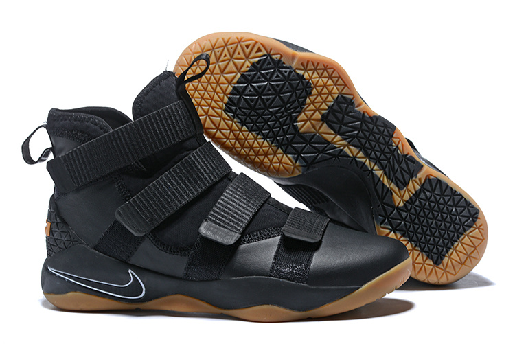 Cheap Nike LeBron Soldier 11 Black Gum For Sale