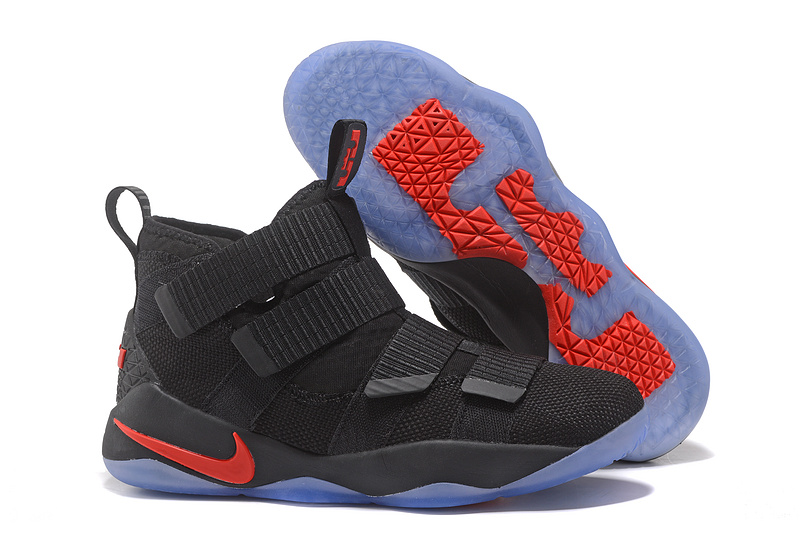 Cheap Nike LeBron Soldier 11 Black Red For Sale