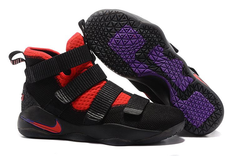 Cheap Nike LeBron Soldier 11 Black Red Purple For Sale