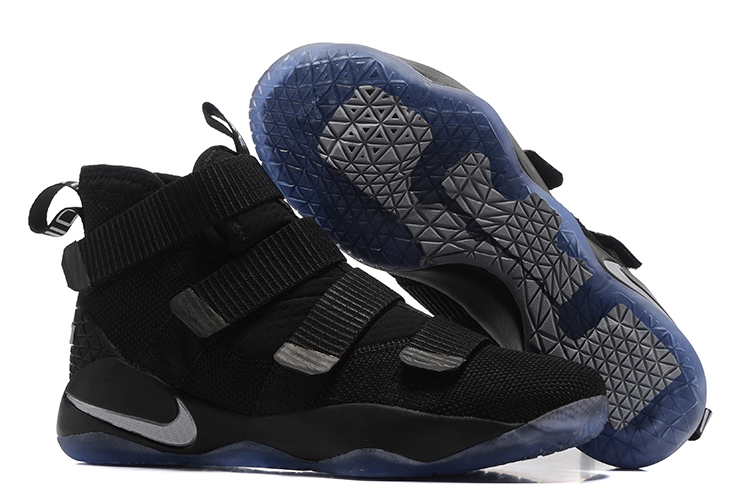 Cheap Nike LeBron Soldier 11 Black Silver For Sale