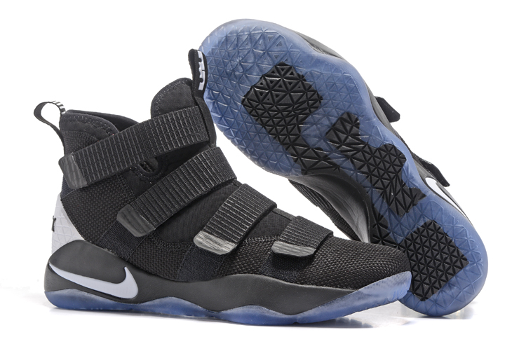 Cheap Nike LeBron Soldier 11 Black White For Sale