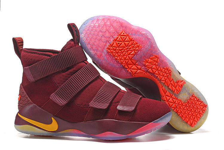 Cheap Nike LeBron Soldier 11 Cavs PE Basketball Shoes For Sale