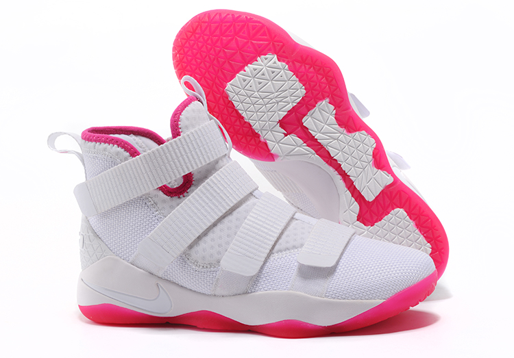 Cheap Nike LeBron Soldier 11 Kay Yow White Pink For Sale